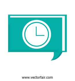 conversation bubble with clock