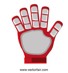 red goalkeeper glove