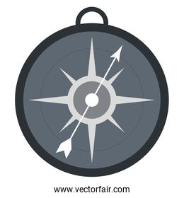 simple compass icon magnifying icon design