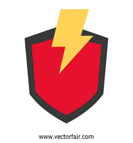 lightning and shield icon