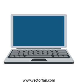 grey and blue laptop icon
