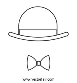 hat with bowtie icon