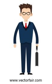 businessman with glasses icon