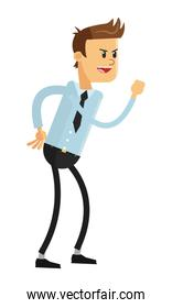 businessman in challlenging pose icon