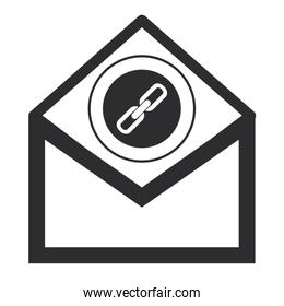 envelope with chain link icon