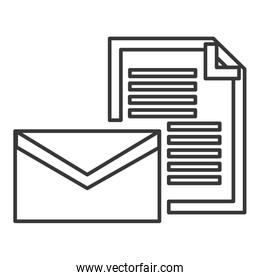 envelope and document icon
