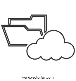 file folder with cloud icon
