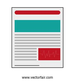 lined document isolated icon
