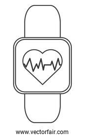 heart rate monitor wrist band icon