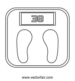 digital weight scale line style icon