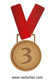 third place prize medal icon