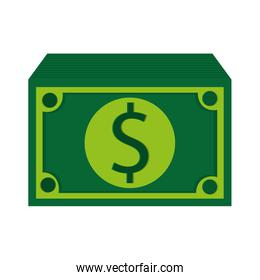 green dollar bills icon