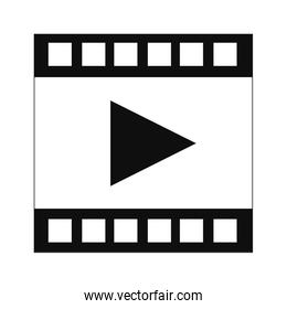 film strip with play symbol icon