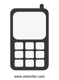 simple cellphone with buttons icon