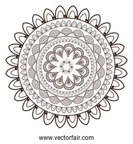 round petali like decorative line mandala icon