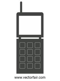 cellphone with buttons and antenna icon