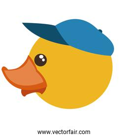 toy rubber duck with blue hat design