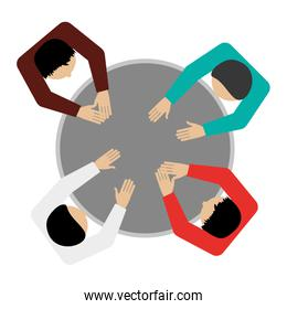 people sitting topview icon