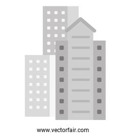 residential or office buildings icon