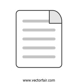 lined paper document icon