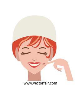 woman in spa icon