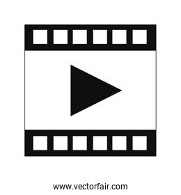film strip with play icon