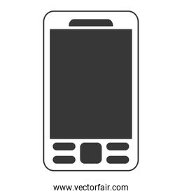cellphone with buttons icon