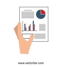 hand holding graph chart icon