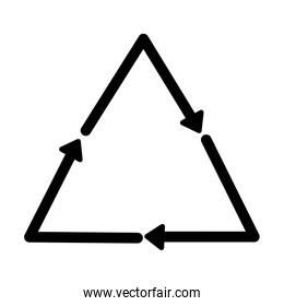 triangle arrows pointing icon