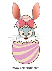 easter bunny with egg icon