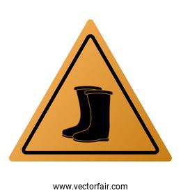 industrial boots icon sign