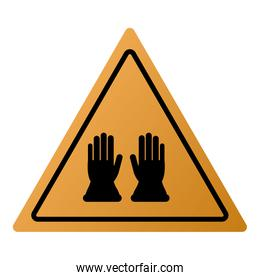 industrial protection gloves icon sign