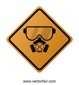 gas mask icon sign