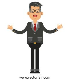 businessman with open arms icon