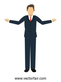 businessman with arms open icon
