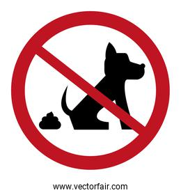 no dog pooping sign icon
