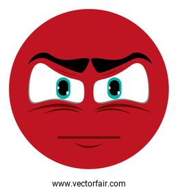 angry face emoticon icon