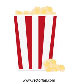 popcorn in striped package icon