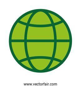 global world planet icon green