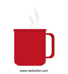 Coffe cup with ear flat icon