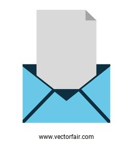 simple envelope with paper icon
