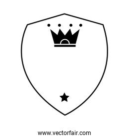 shield with crown and star icon