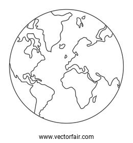world map globe earth icon