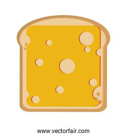 bread slice with cheese icon