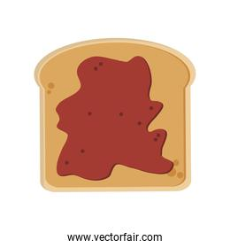 bread slice with spread icon