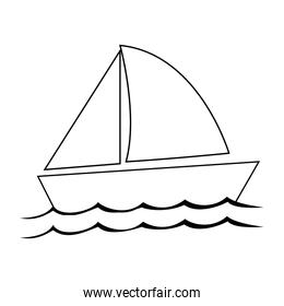 single sailboat icon