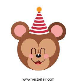 cute baby bear party hat