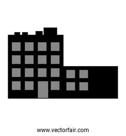 isolated building silhouette construction icon