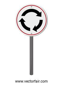 roundabout traffic sign icon