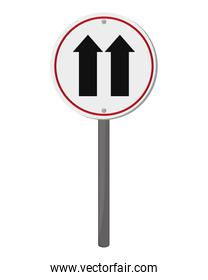 one way traffic sign icon